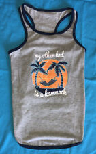 "Top Paw Brand Pet Dog Gray Tank ""My Other Bed is a Hammock"" for X-Large Dog"