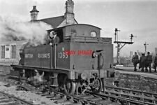 PHOTO  LMS EX MIDLAND 1P 0-4-4T NO M1365  AT ASHCHURCH RAILWAY STATION 1948