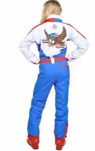 Tipsy Elves USA Ski Suit Size XS Eagle Red White Blue Snowsuit