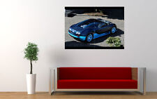 BLUE BUGATTI VEYRON GRAND SPORT NEW GIANT LARGE ART PRINT POSTER PICTURE WALL