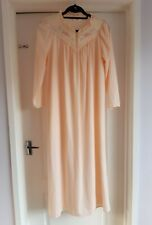 St Michael Marks And Spencer Peach Floral Embroidered Sleeves Full Length...