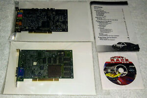 3DFX Voodoo 3 2000 PCI & Sound Blaster Audigy 2 w/ Ultimate Race Pro PC