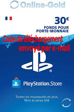 Carte Playstation Network 30 EUR - €30 PSN Jeu PS3 PS4 PS Vita Compte français