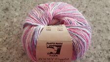 Juniper Moon Farm Zooey Dappled #1006 Pink Purple White 100g Cotton & Linen