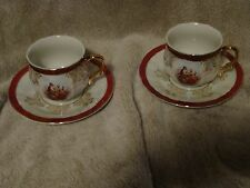 ROYAL ANTIQUE HAND PAINTED MADE IN JAPAN COFFEE -Set of 2 (5)