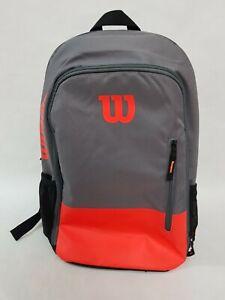 Wilson Team tennis Backpack Orange Grey