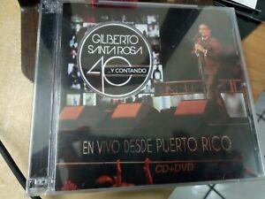 NEW-CD+DVD-Gilberto Santa Rosa 40 Y Contando En Vivo Desde Puerto Rico-Brand New
