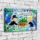 """32x20"""" Alec Monopoly """"Rich Airways"""" HD print on canvas fashion rolled up print"""