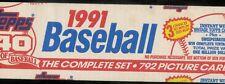 1991 TOPPS BASEBALL COMPLETE OPENED FACTORY SET 1-792
