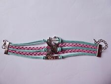 Butterfly Bracelet,Wrist Wrap,Love,Gift Idea,Pink & Turquoise,Anchor,Pretty