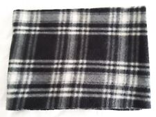 Classic Collection Polyester Black & White Plaid Winter Scarf NECK MUFFLER SHAWL