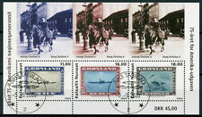 More details for greenland stamps-on-stamps stamps 2020 cto american issue sos ducks 3v m/s