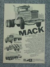 VINTAGE 1971 MPC MACK SEMI TRUCK MODEL ADVERTISEMENT