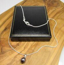 "Chain 18 - 19.99"" Cultured Fine Pearl Necklaces & Pendants"