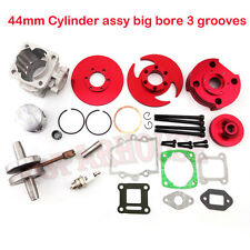 Red 44mm Big Bore Kit Cylinder 2 Stroke 47cc 49cc Mini moto Dirt Pocket Bike ATV