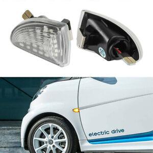 2007-2015 Smart W451 Fortwo LED Side Marker Turn Signal Blinker Lights Lamp SET