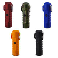 Dual Arc Plasma Electric Flameless Lighter & LED Flashlight Waterproof & USB