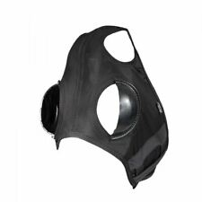Finn-Tack Harness Racing Blinker Hood with Half Cup - Black, Medium