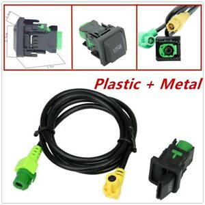 Plastic + Metal USB Switch Cable Fit RCD510 RCD310  Golf/GTI/R MK5 MK6 Jetta