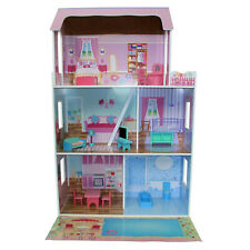 PINK FAIRY DOLLHOUSE WOODEN PRETEND PLAY