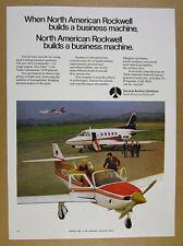 1971 rockwell Aero Commander 112 Sabre 75 Jet & Turbo Commander 681B vintage Ad