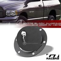 For 2009-2018 Dodge Ram 1500 2500 Matte Black Aluminum Fuel Gas Door Cover Lock