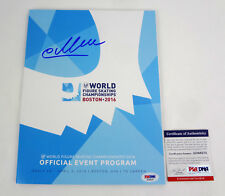 Evgenia Yevgenia Medvedeva 2018 Olympics Signed 2016 Worlds Program PSA/DNA COA