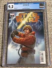 Star Wars #6 - Luke Skywalker Yellow Lightsaber Cover - Marvel 2020 - CGC 9.2