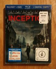 Inception (2010) Very Good 3-Disc Blu-ray + DVD w/ SLIPCOVER! Leonardo DiCaprio