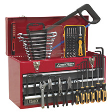 Toolkit Tool Chest 3 Drawer Red Grey 93pce TOOLBOX TOOL KIT