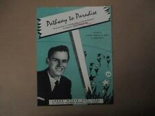 Johnny Rebb and the Rebels, Pathway to Paradise, sheet music, vintage