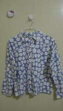 Chambray Floral Long Sleeve Ladies Top