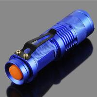 Portable Mini Q5 Zoomable 1200 Lumen LED Flashlight Torch Lamp 9.4cm