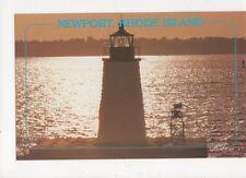 Goat Island Lighthouse Newport Rhode Island Postcard USA 402a ^
