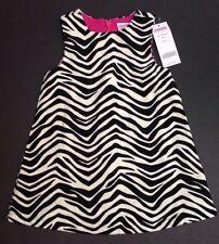 NWT Gymboree Wild One 12-18 Months Zebra Stripe Velveteen Jumper Dress