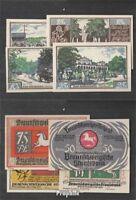 Deutsches Reich Notgeld: 155.3 Vier Notgeldscheine der Stadt Braunschweig bankfr