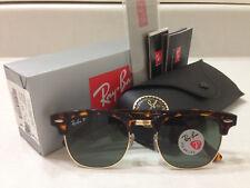 beca451312 Ray Ban Clubmaster Sunglasses POLARIZED Green Lens Tortoise Havana Frame  51MM.