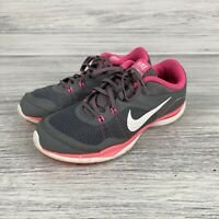 NIKE WOMEN'S FLEX TRAINER 5 SNEAKERS SHOES GREY/WHITE/PINK 724858-003 SIZE 7