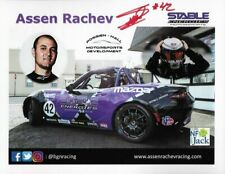 """SIGNED 2019 ASSEN RACHEV """"STABLE ENERGIES"""" #42 MAZDA MX-5 CUP SERIES POSTCARD"""