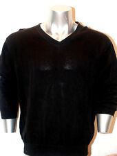 Structure Men's Cotton long sleeve top sweater Black Size XL