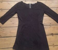 H & M STRETCH BODYCON BLACK TEXTURED DRESS WITH SIDE PANELS SCOOP NECK SIZE M