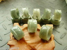1 Burmese Natural A Jade Jadeite Round Beveled RING approx size 9.5+/- US avail.