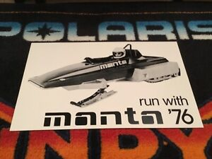 76 MANTA Twin Track Race Snowmobile Poster   vintage race sled twin trac