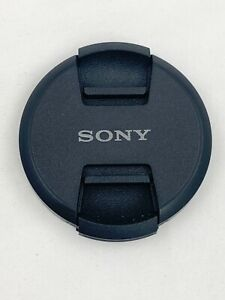Second Generation 55mm Front Lens Cap Center Pinch Snap on for Sony Camera Black