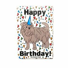 Affenpinscher Dog Happy Birthday Magnet Confetti Celebration Gift and Home Decor