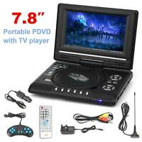 7.8 Inch Portable DVD Player Digital Multimedia Player U Drive FM TV Game