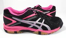 ASICS Women's Gel 1150V Volley Ball Shoe Black/Silver/Knock Out Pink Size 10