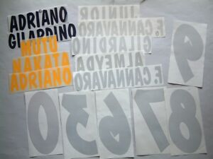 NOMI-NUMERI MIX PARMA HOME/AWAY/3rd 2001-2003 OFFICIAL NAMES-NUMBERS LOOSE