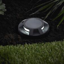 LED Solar  Solarlampe Edelstahl Bodeneinbau Strahler Quadrat anthrazit SEL07