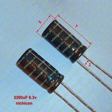 2Pcs Radial Electrolytic Capacitor 3300uF 6.3V original NICHICON - Condensador